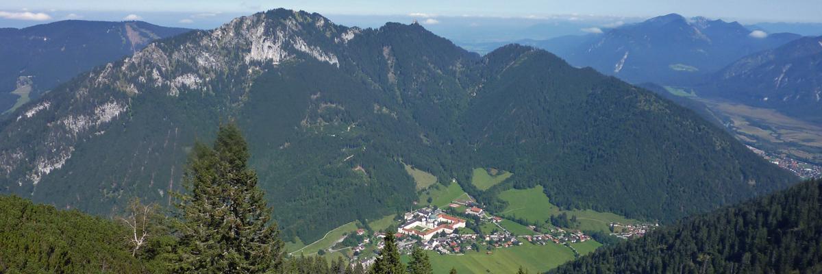 Ettal mit Kloster von oben